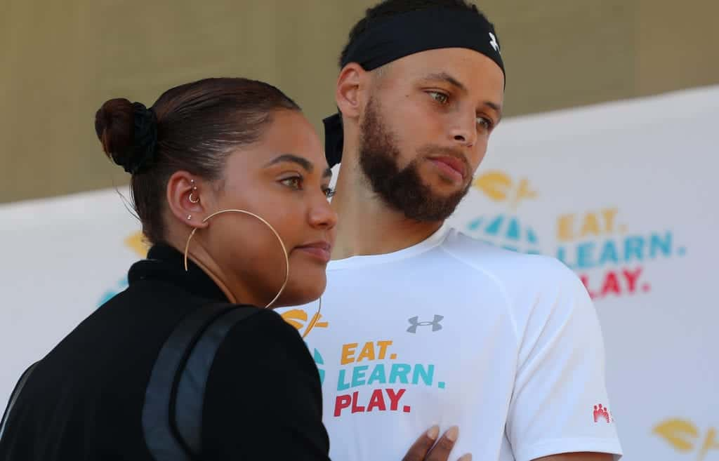 Stephen Curry looking at the camera